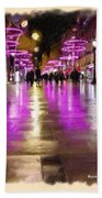 Champs Elysees In Pink Hand Towel