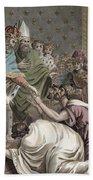Charlemagne Receives The Ambassadors Bath Towel