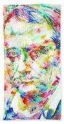 Charles Baudelaire Watercolor Portrait.1 Bath Towel