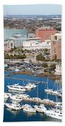 Charleston Waterfront And Marina South Carolina Bath Towel