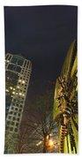 Charlotte Downtown At Night Bath Towel