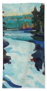 Charlton Lake Camp Sunrise Bath Towel