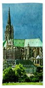 Chartres Cathedral Bath Towel
