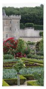 Chateau Villandry And The Cabbage Garden  Bath Towel
