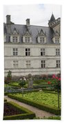 Chateau Villandry - Usefulness And Ornament  Bath Towel