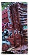 Cheakamus Box Car Graffiti Bath Towel