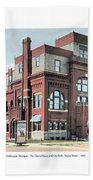 Cheboygan Michigan - Opera House And City Hall - Huron Street - 1905 Hand Towel