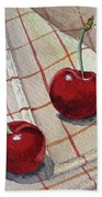 Cherry Talk By Irina Sztukowski Bath Towel