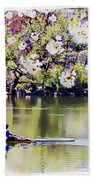 Cherry Blossom Rower Bath Towel