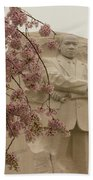 Cherry Blossoms At The Martin Luther King Jr Memorial Bath Towel