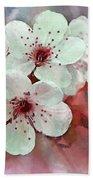Apple Blossoms In Soft Pink - Digital Paint Bath Towel