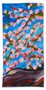 Cherry Tree In Blossom  Bath Towel