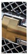 Chevrolet Bowtie Symbol On Chevy Silverado Grill E181 Bath Towel