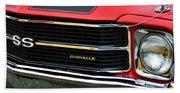 Chevrolet Chevelle Ss Grille Emblem Bath Towel