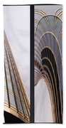Chicago Abstract Before And After Sunrays On Trump Tower 2 Panel Bath Towel