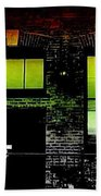 Chicago Brick Facade Glow Bath Towel