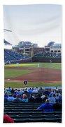 Chicago Cubs Pregame Time Panorama Bath Towel