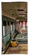 Chicago Eastern Il Rr Car Restoration With Blue Print Bath Towel