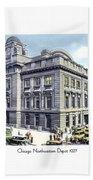 Chicago Illinois - Northwestern Railroad Station - 1927 Bath Towel