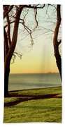 Chicago Lakefront Trail And Lincoln Bath Towel