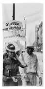 Chicago Protest, 1941 Hand Towel