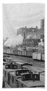 Chicago Railroads, C1893 Bath Towel