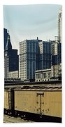 Chicago Railway Freight Terminal - 1943 Bath Towel