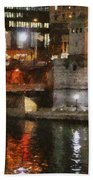 Chicago River At Michigan Avenue Hand Towel