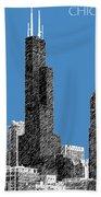 Chicago Sears Tower - Slate Bath Towel