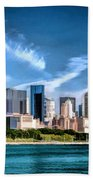 Chicago Skyline Panorama Bath Towel