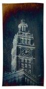 Chicago Wrigley Clock Tower Textured Bath Towel