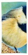 Chickadee Greeting Card Size - Digital Paint Bath Towel