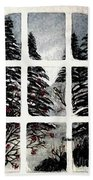 Chickadees And Dogberries Abstraction Bath Towel