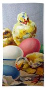 Chicks And Eggs Bath Towel