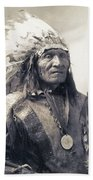 Chief He Dog Of The Sioux Nation  C. 1900 Bath Towel