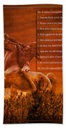 Chief Shabbona And The Ten Indian Commandments Bath Towel
