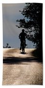 Child On Bicycle, Italy Bath Towel