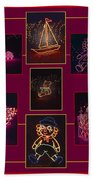 Children's Toys In Lights Poster Bath Towel