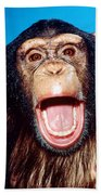 Chimpanzee Portrait Bath Towel