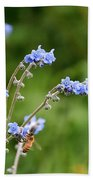 Chinese Forget Me Nots Bath Towel