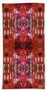 Chive Abstract Red Bath Towel