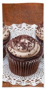 Chocolate Caramel Cupcakes Bath Towel