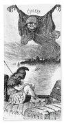 Cholera Cartoon, 1883 Bath Towel