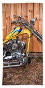 Chopper Custom Built Harley Bath Towel