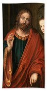 Christ And The Adulteress Bath Towel