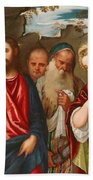 Christ And The Woman Taken In Adultery Hand Towel