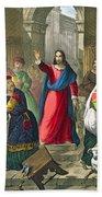 Christ Cleanses The Temple Bath Towel