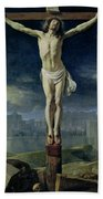 Christ On The Cross Hand Towel
