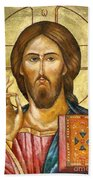 Christ Pantocrator Bath Towel