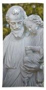 Christ With Child Bath Towel